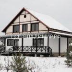 фасад дома в стиле фахверх из цсп